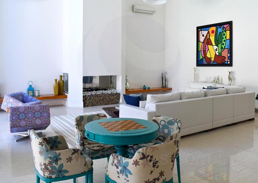 Casa 1463 – Living com Lareira